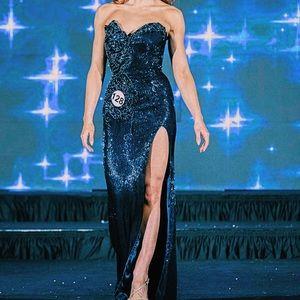 Sherri Hill Couture Liquid Beading Pageant Dress